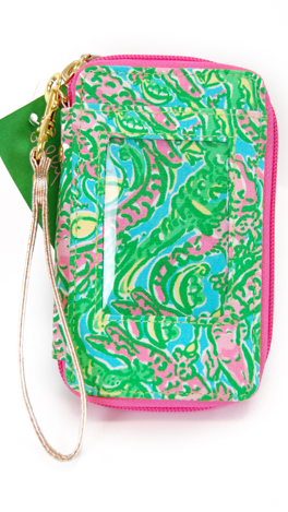 Genial Lilly Pulitzer Wristlet, Shorely Blue
