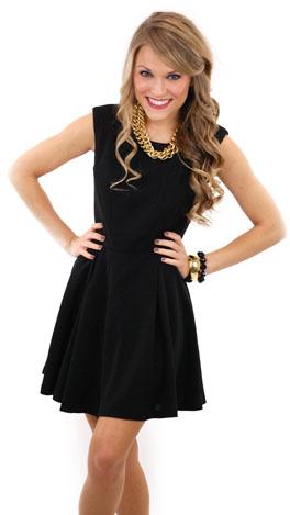 5b985d1dd3993 Right On Target Dress, Black :: Dresses :: The Blue Door Boutique