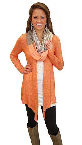 Necessity Cardigan, Orange