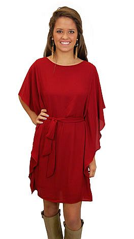 Fly Away Dress, Red