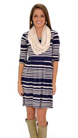 Hoover Dress, Navy