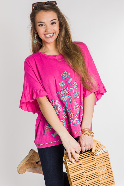 Wonderstruck Embroidered Top