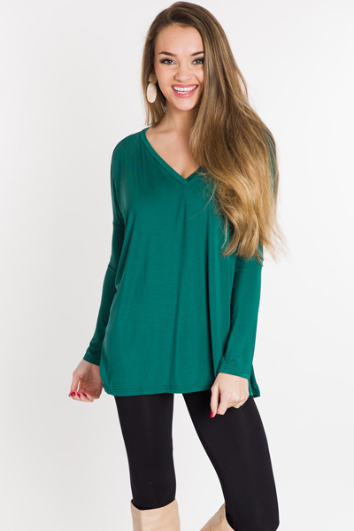 Piko V Top, Forest Green