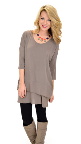 Double or Nothing Top, Taupe