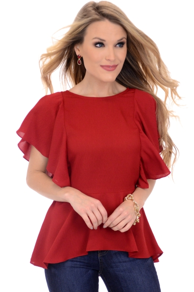 Stella Blouse, Red