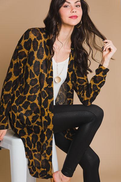 Cheetah Open Cardigan