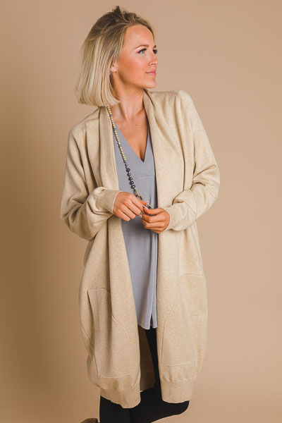 High End Cardi, Taupe