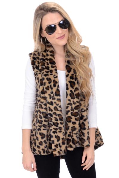 Luxe Leopard Vest