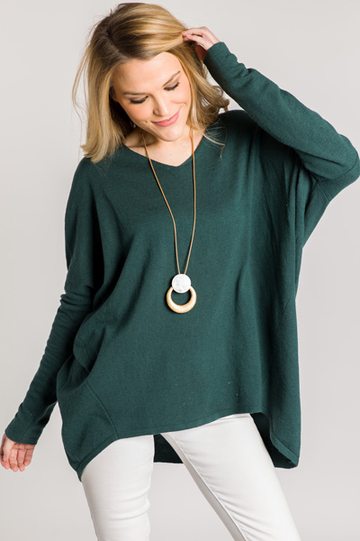 With Ease Sweater, Hunter Green