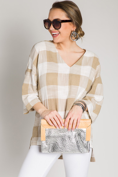 On a Picnic Tunic, Taupe