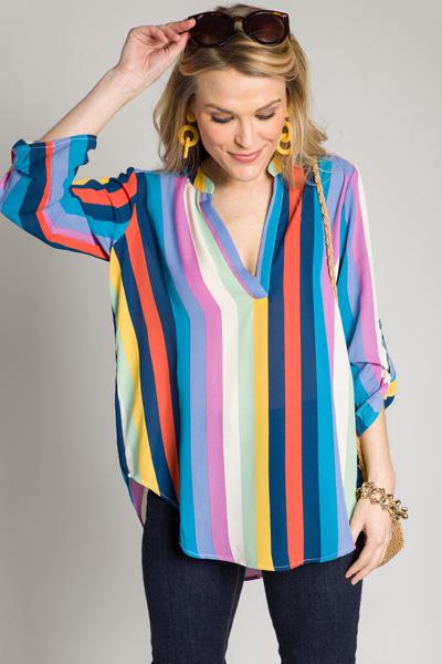 Rainbow Woven Top