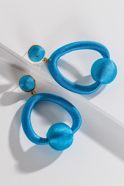 Trapeze Earring, Blue