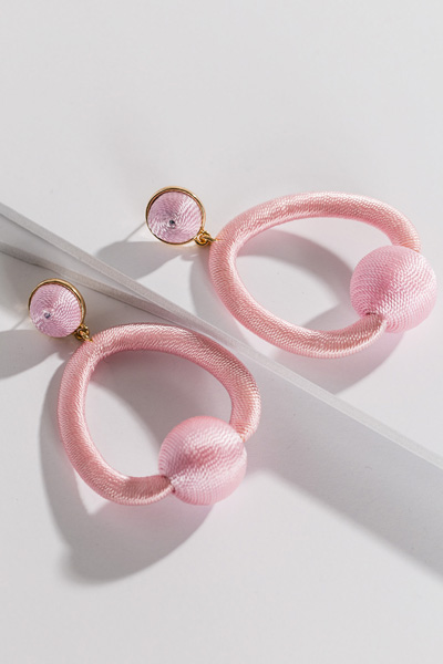 Trapeze Earring, Baby Pink