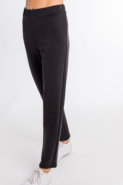 Soft Knit Trousers, Black