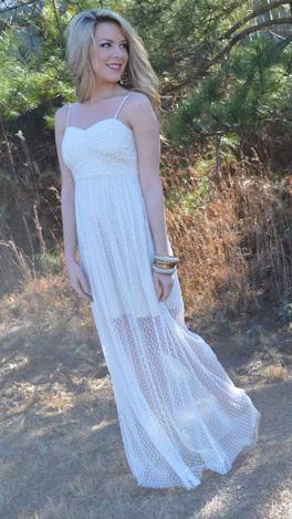Leah Lace Dress, Cream
