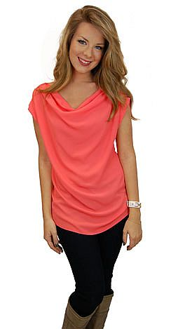 After Hours Top, Coral