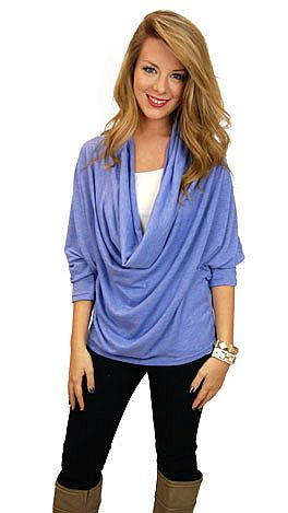 Curtain Call Top, Periwinkle