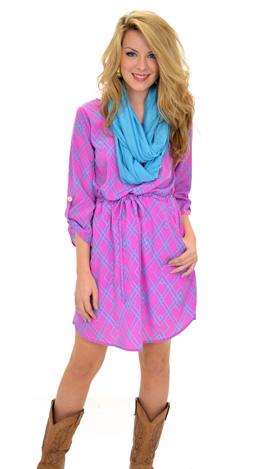 Geo Diamond Dress, Pink