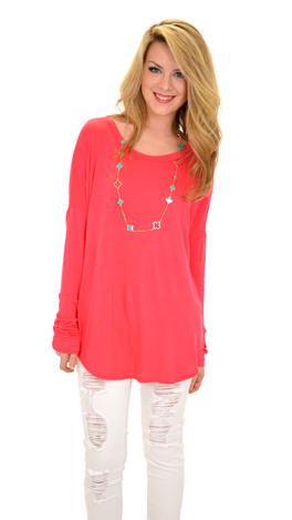 Let Loose Tee, Hot Pink