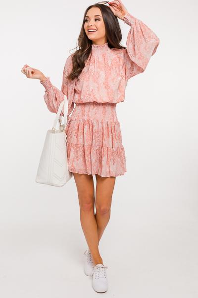 Peachy Smock Waist Dress