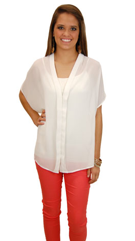 Classic Blouse, Ivory