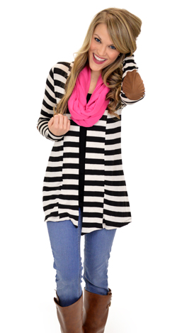 The Perfect Patch Cardigan, Black