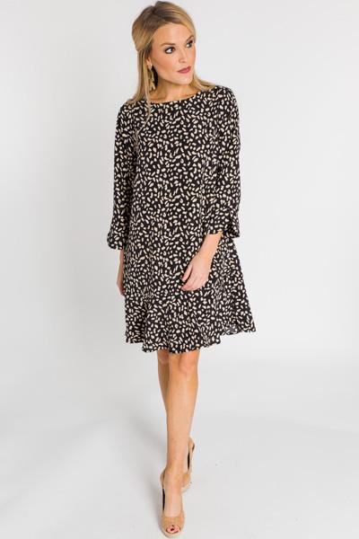 Ruffle Hem Panther Dress