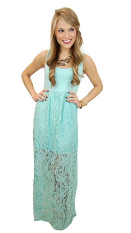 Lacey Days Maxi, Mint