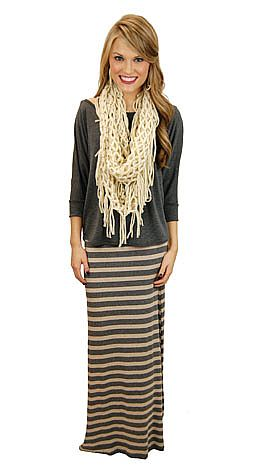 Can't Stripe Maxi Skirt