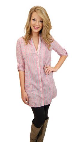 Cotton Blossom Tunic, Pink