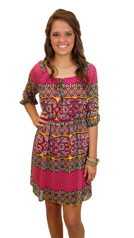 Connect The Dots Dress, Pink