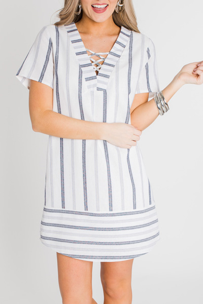 Striped Linen Dress