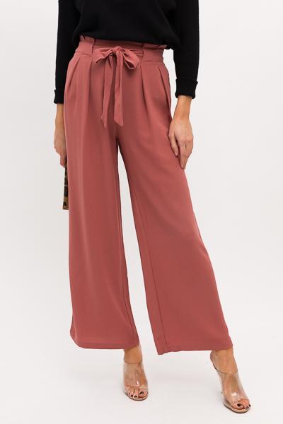 Anna Tie Front Pants, Sienna
