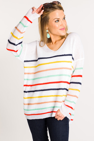 Shake It Off Striped Sweater