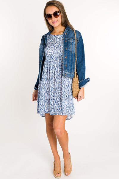 Blue China Babydoll Dress