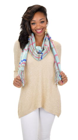 Anything Goes Tunic, Tan
