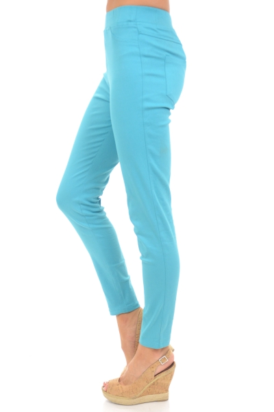 Turquoise Pull On Pants