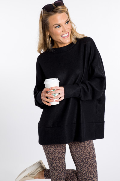 Plush Hour Pullover, Black