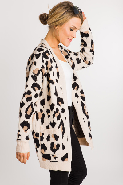 Cream Panther Cardigan