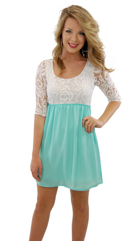 Half of My Heart Dress, Mint