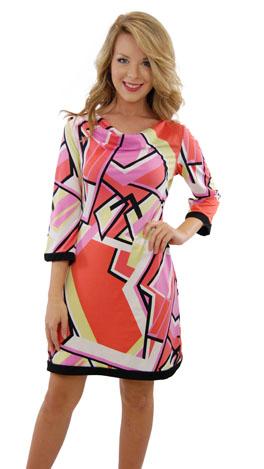 Geo Drape Dress