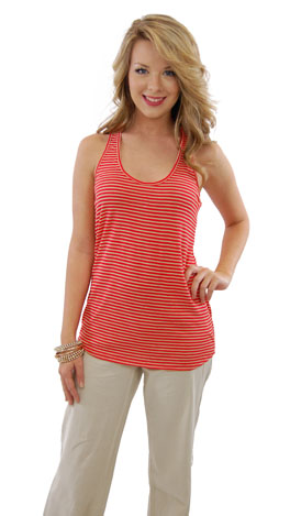 Loose Fit Tank, Cherry