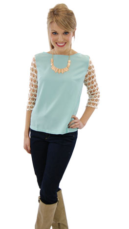 Pinterest Craze Top, Mint