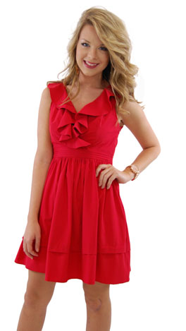Classic Act Dress, Red