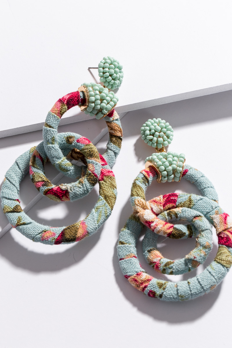 Floral Wrapped Loops, Mint