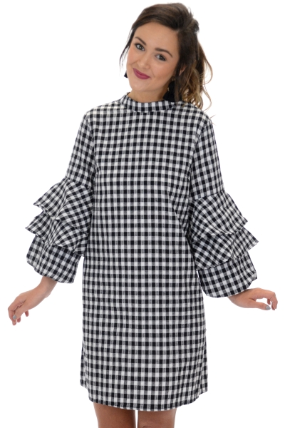 Checkered Charm Dress