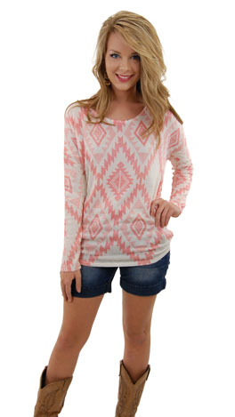 Refresh Mint Top, Coral