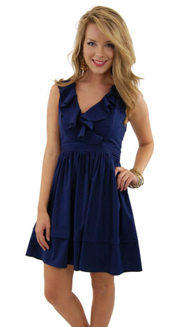 Classic Act Dress, Navy
