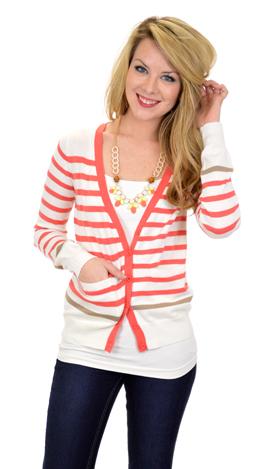 Riley Cardigan, Coral
