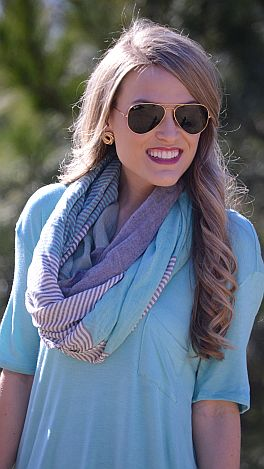 Dreamsicle Loop Scarf, Mint